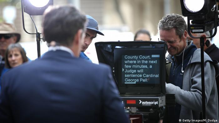 Australien Justiz l Missbrauchsprozess gegen Kardinal George Pell l Presse - Urteilsverkündung (Getty Images/M. Dodge)
