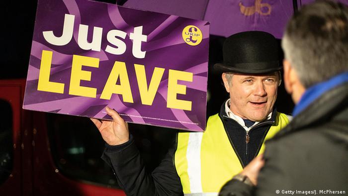 UK Brexit l pro-Brexit leave Demonstration