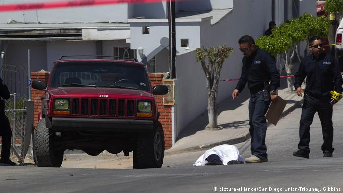Mexiko Kriminalität l Gewalt l in in Tijuana (picture-alliance/San Diego Union-Tribune/J. Gibbins)