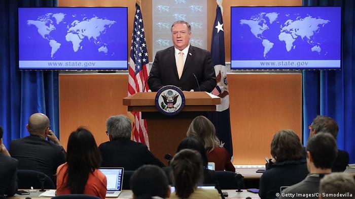 USA l Mike Pompeo kündigt Maßnahmen für Venezuela an (Getty Images/C. Somodevilla)