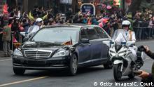 Kim Jong Un in Mercedes-Limousine