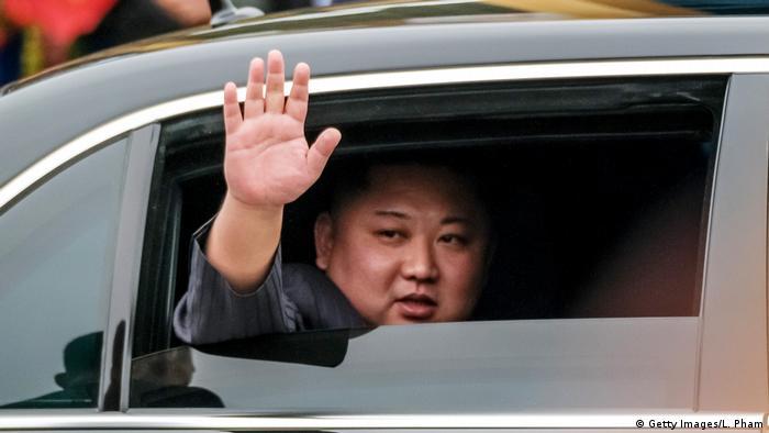 Kim Jong Un in Mercedes-Limousine (Getty Images/L. Pham)