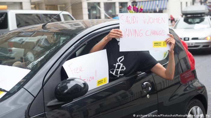 Großbritannien Amnesty Protest für inhaftierte Frauen in Saudi-Arabien