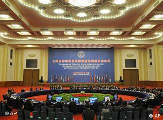 سازمان همکاری شانگهای کشورهای چین، روسیه، قزاقستان، ازبکستان، قرقیزستان، تاجیکستان عضویت دارند.