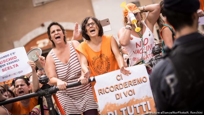To κίνημα του αντιεμβολιασμού είναι παλιό στην Ιταλία