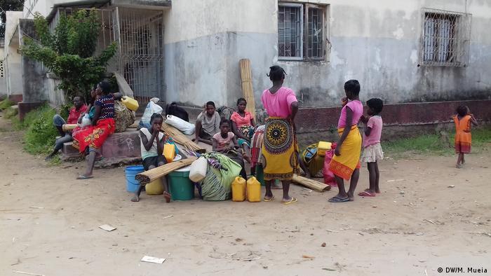 Mosambik Namacata - Zuflucht in Schule (DW/M. Mueia)