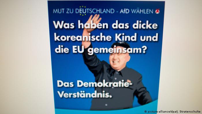 Europawahl - Plakat von der Alternative für Deutschland (AfD)