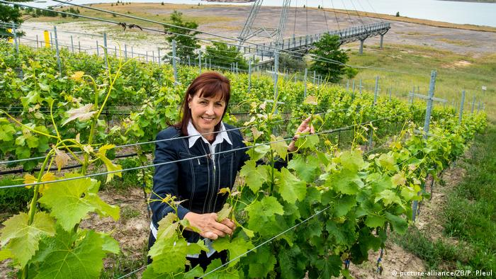 Cornelia Wobar in her vineyard (picture-alliance/ZB/P. Pleul)