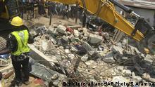 Nigeria - dreistöckiges Gebäude in Lagos eingestürzt