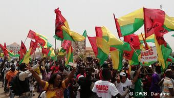 Guinea-Bissau PAIGC-Anhänger feiern den Sieg bei den Parlamentswahlen