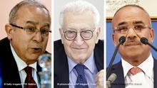 Kombibild - Ramtane Lamamra, Lakhdar Brahimi und Noureddine Bedoui