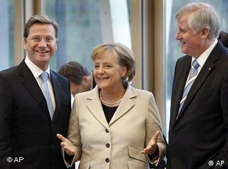 Лидеры СвДП, ХДС и ХСС