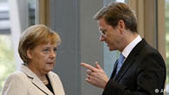 Deutschland Koalitionsverhandlungen Guido Westerwelle Angela Merkel