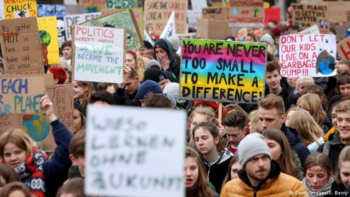 Hamburg Greta Thunberg bei Klimastreik