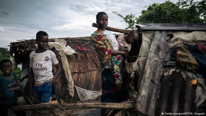 Abyssine Miniunga, who has fled her home in Yumbi for an islet in the Congo River (Getty Images/AFP/A. Huguet)
