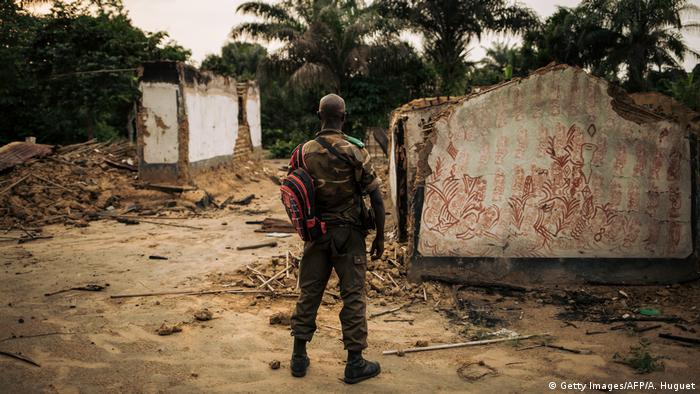 Demokratischen Republik Kongo Yumbi - Mitglied der Forces Armées de la République Démocratique du Congo