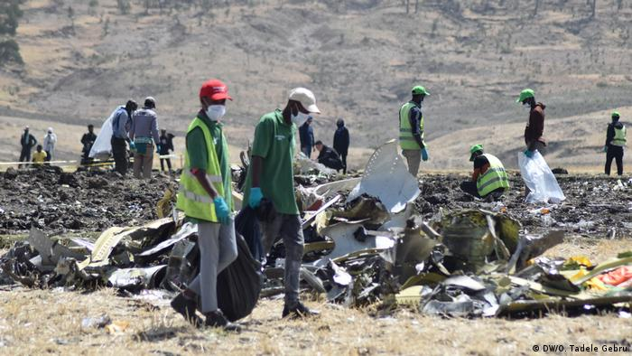 Rubble from Ethiopian Airlines Flight 302