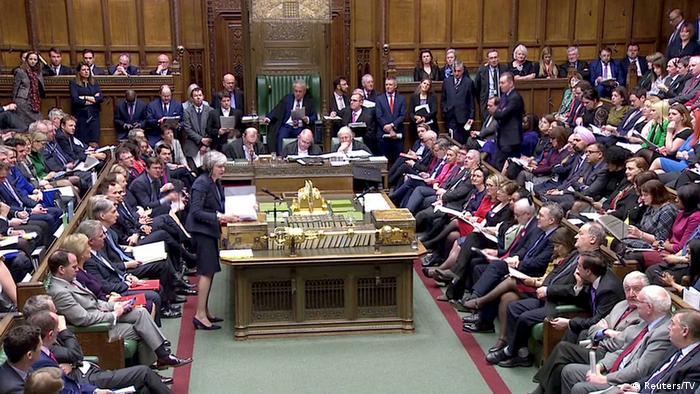 Großbritanien | Theresa May spricht im Unterhaus | Brexit | London (Reuters/TV)