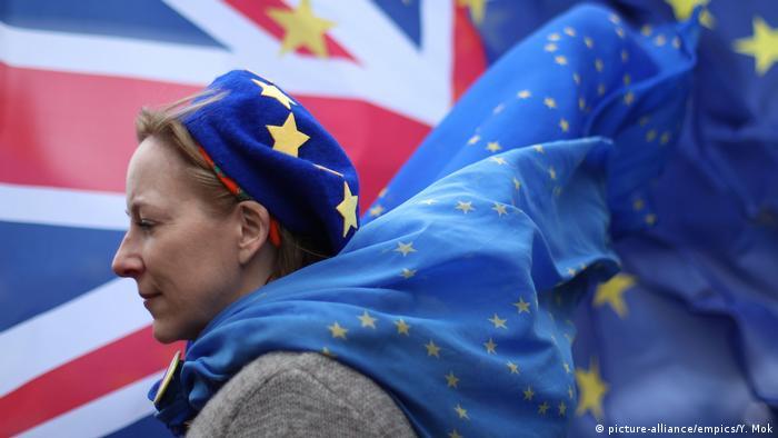 UK Brexit-Gegnerin in Westminster