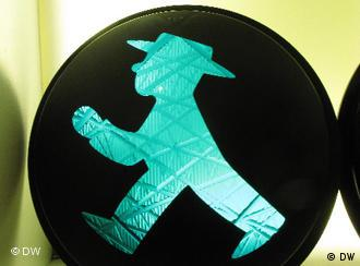 An image of the 'Ampelmann', the symbolic figure on traffic lights in the former GDR