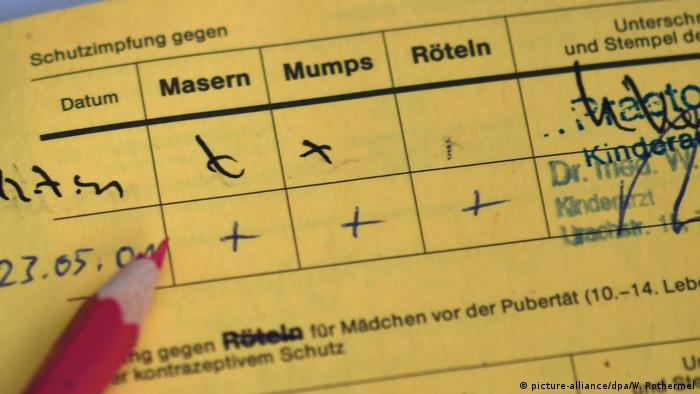 Symbolbild | Masern Impfung (picture-alliance/dpa/W. Rothermel)
