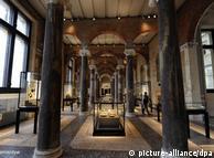 修复后的新博物馆的一个展厅