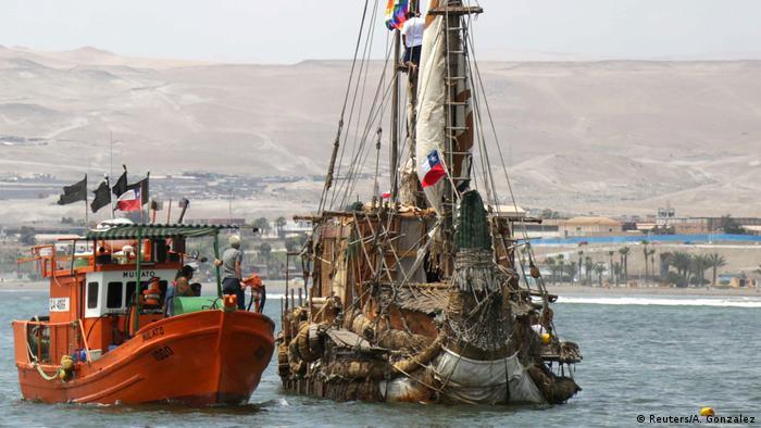 Chile: Seegelboot Viracocha III legt ab (Reuters/A. Gonzalez)