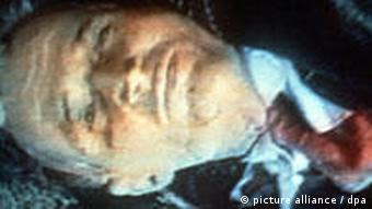 A picture of the executed body of former Romanian leader Nicolae Ceausescu