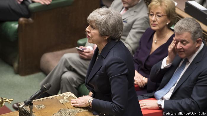 England, London: Theresa May