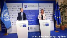 Belgien Brüssel - Federica Mogherini - Geir Pedersen Pressekonferenz