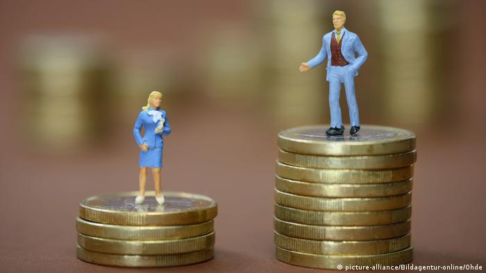 A picture symbolizing the gender pay gap