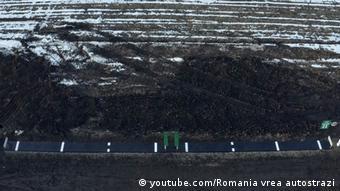 Screenshot youtube Rumänien Autobahnen (youtube.com/Romania vrea autostrazi)