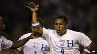 Carlos Pavon of Honduras celebrates