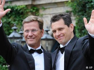 Foreign Minister Guido Westerwelle and his partner Michael Mronz