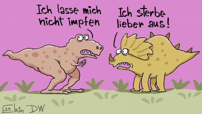 Impfgegner-Dinosaurier