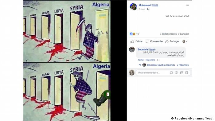 Screenshots Algerien SoMe (Facebook/Mohamed Youbi)