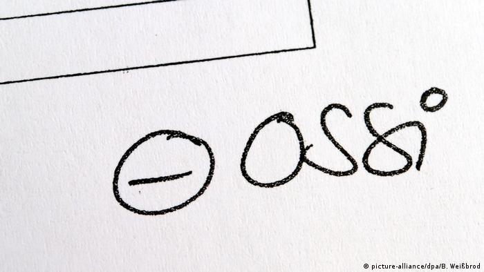 Надпись осси и знак минуса рядом