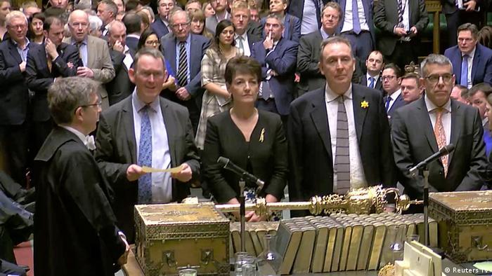 UK Unterhaus lehnt zweites Brexit-Referendum ab (Reuters TV)