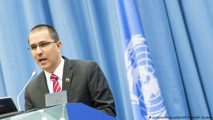Österreich | venezueleas Außenminister Jorge Arreaza | United Nations Office on Drugs and Crime' (UNODC) (picture-alliance/dpa/AP Photo/M. Gruber)