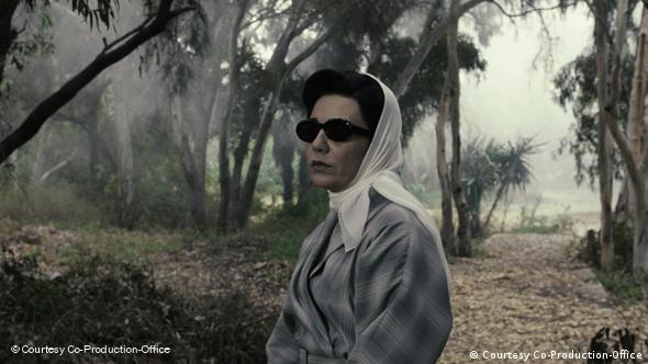 A scene of a woman wearing sunglasses in the film Women Without Men