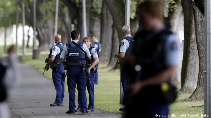 Neuseeland Angriff auf Moscheen in Christchurch (picture-alliance/AP Photo/M. Baker)