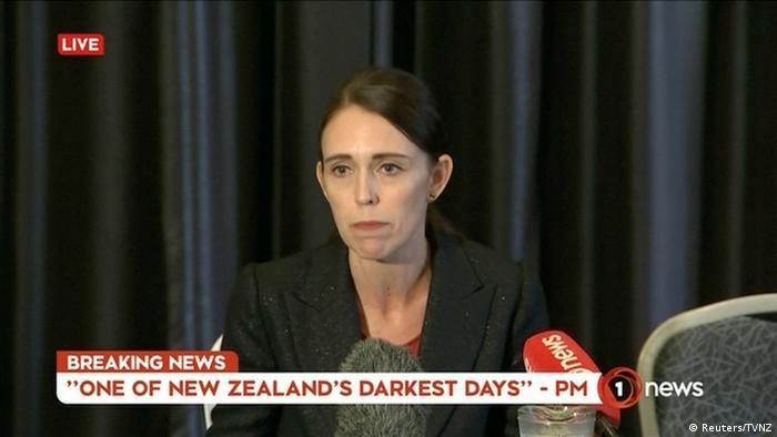 Neuseeland Angriff auf Moscheen in Christchurch | Jacinda Ardern, Premierministerin (Reuters / TVNZ)