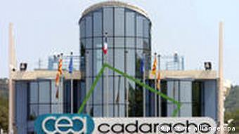 Der Eingang der französichen Atomanlage Cadarache (Foto: dpa)