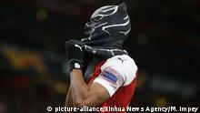 Pierre-Emerick Aubameyang als Black Panther