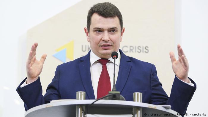 Директор Нацонального антикорупційного бюро України (НАБУ) Артем Ситник виступає в Українському кризовому центрі