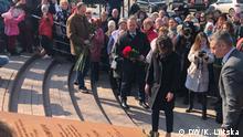 Die Eröffnung des Platzes Boris Nemzow in Kiew
