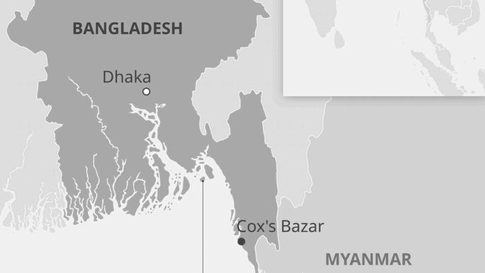 Karte Bangladesch Bhashan Char EN