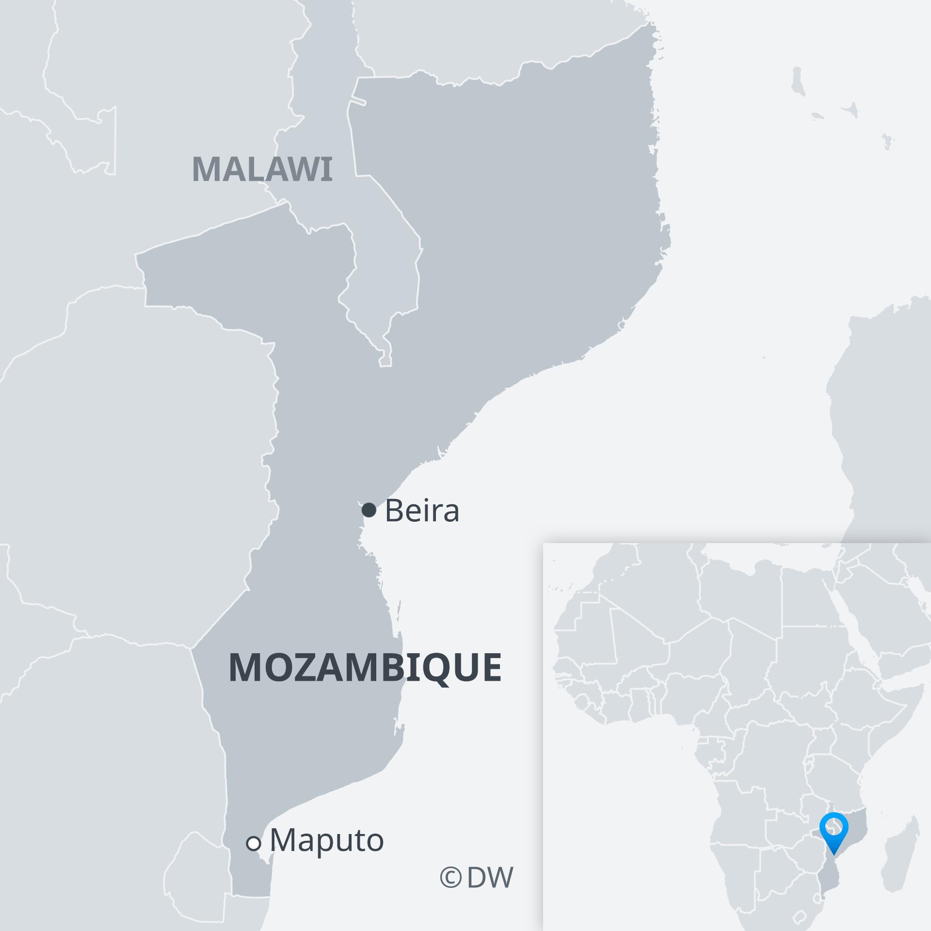Karte Mosambik Beira EN