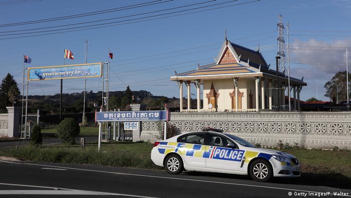 Neuseeland Auckland - Polizeiwagen vor Moschee nach Attentat in Christchurch (Getty Images/P. Walter)