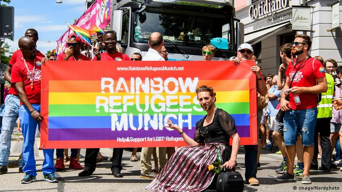 Christopher Street Day Rainbow Refugees in Munich